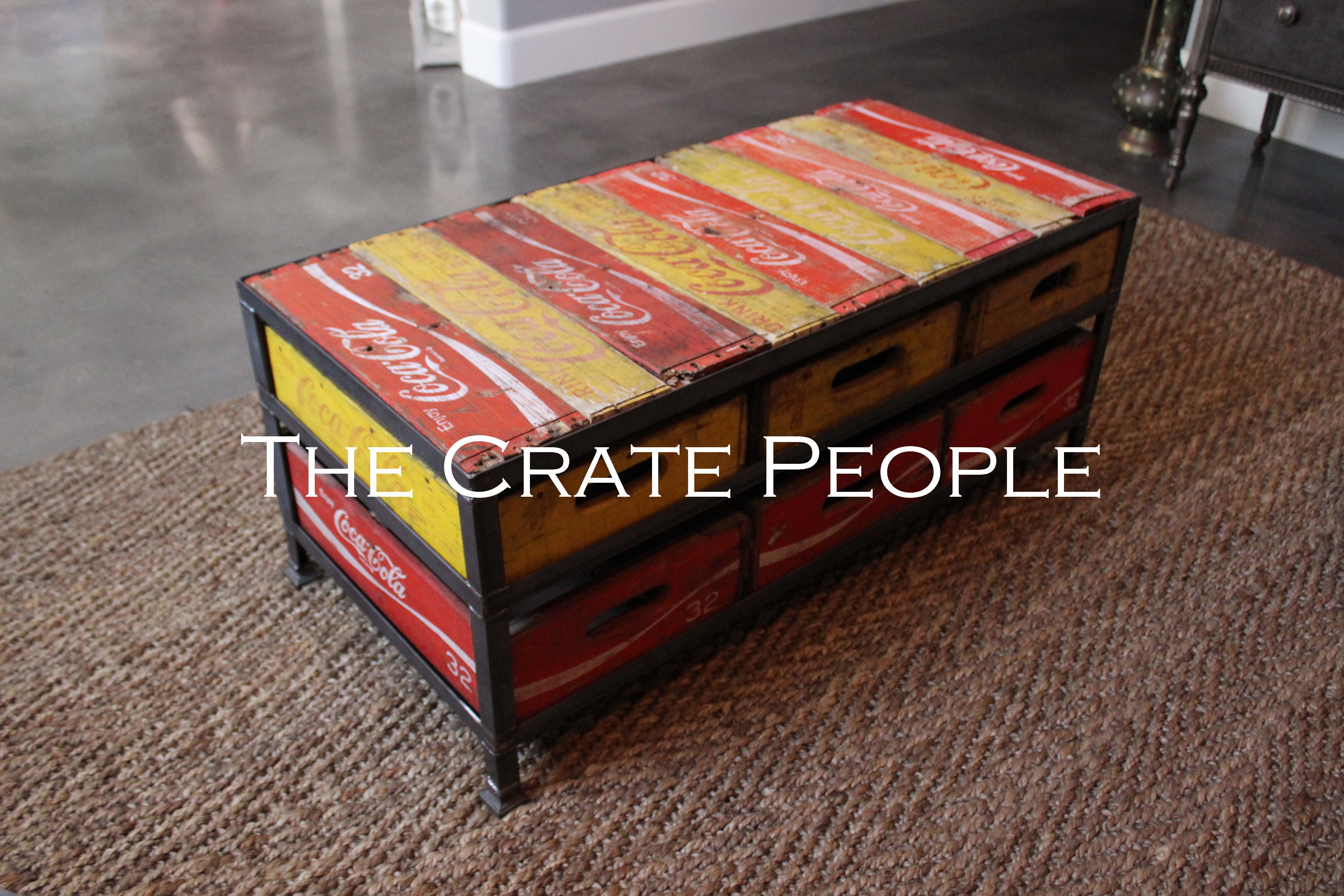 6 Crate Coca Cola Coffee Table The Crate People