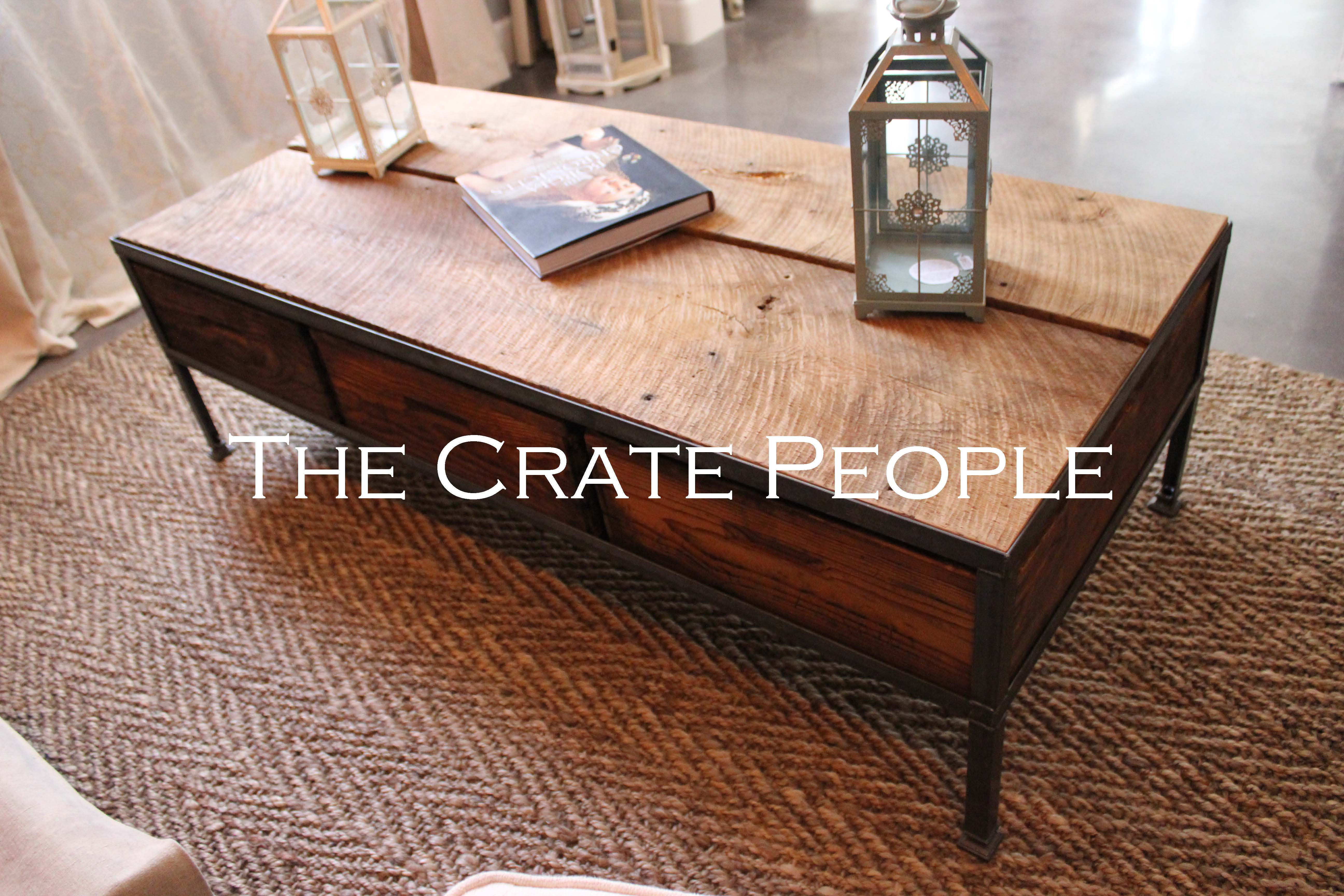 RENT 3 Crate Wide Coffee Table