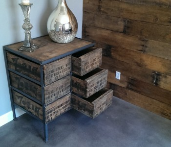 Dresser or Media Consul.....Comprised of 6 Tall Grape Crates