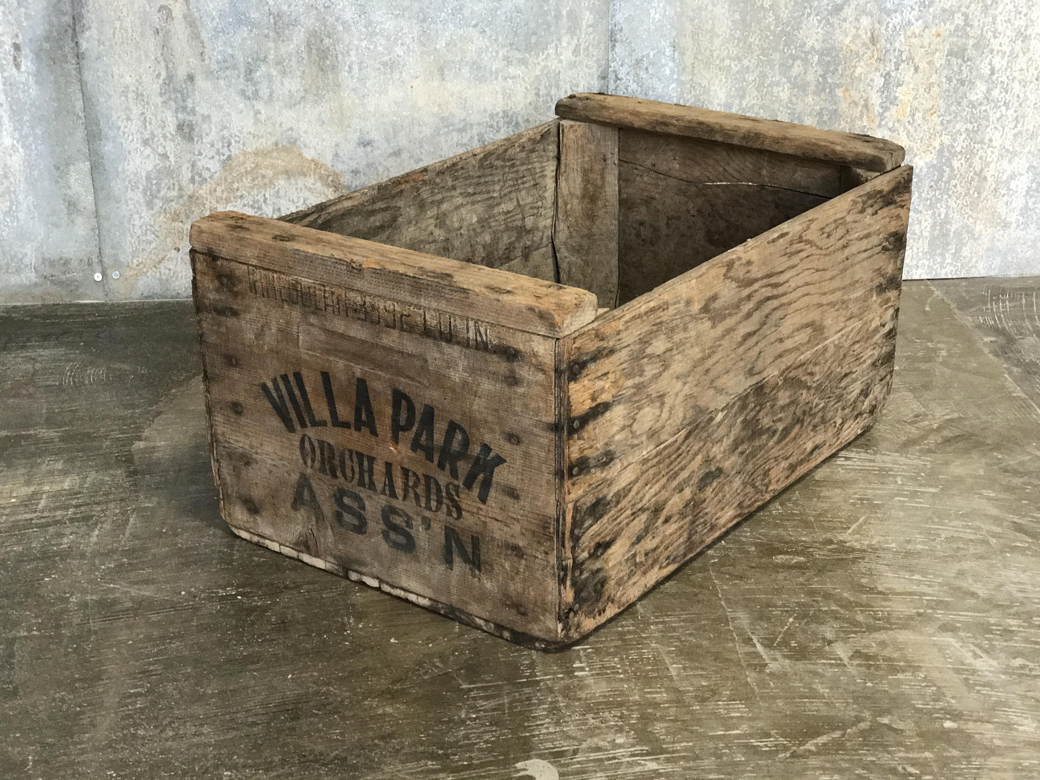 Vintage Villa Park Orange Crate The Crate People
