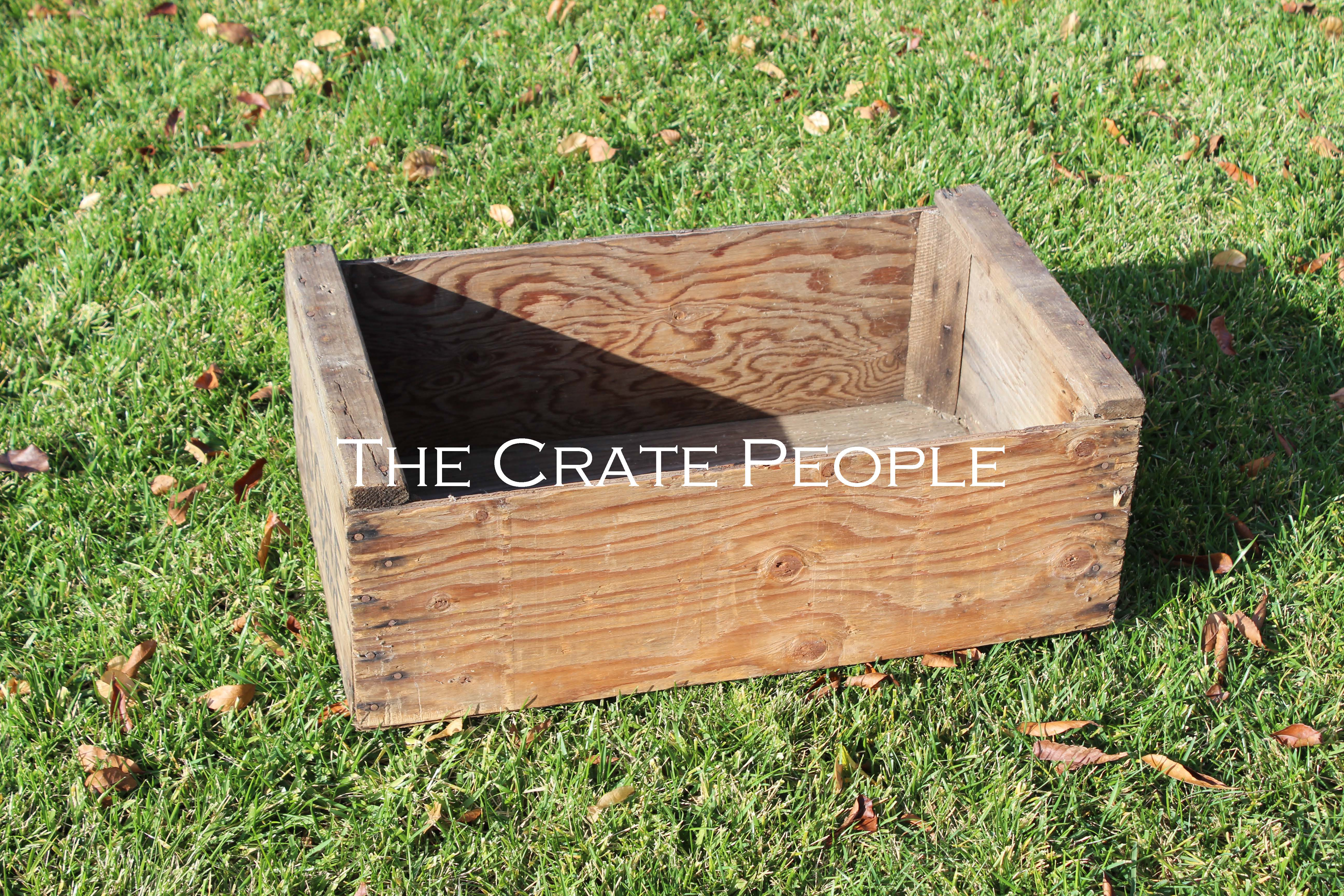 Vintage MOORE Apricot Crate