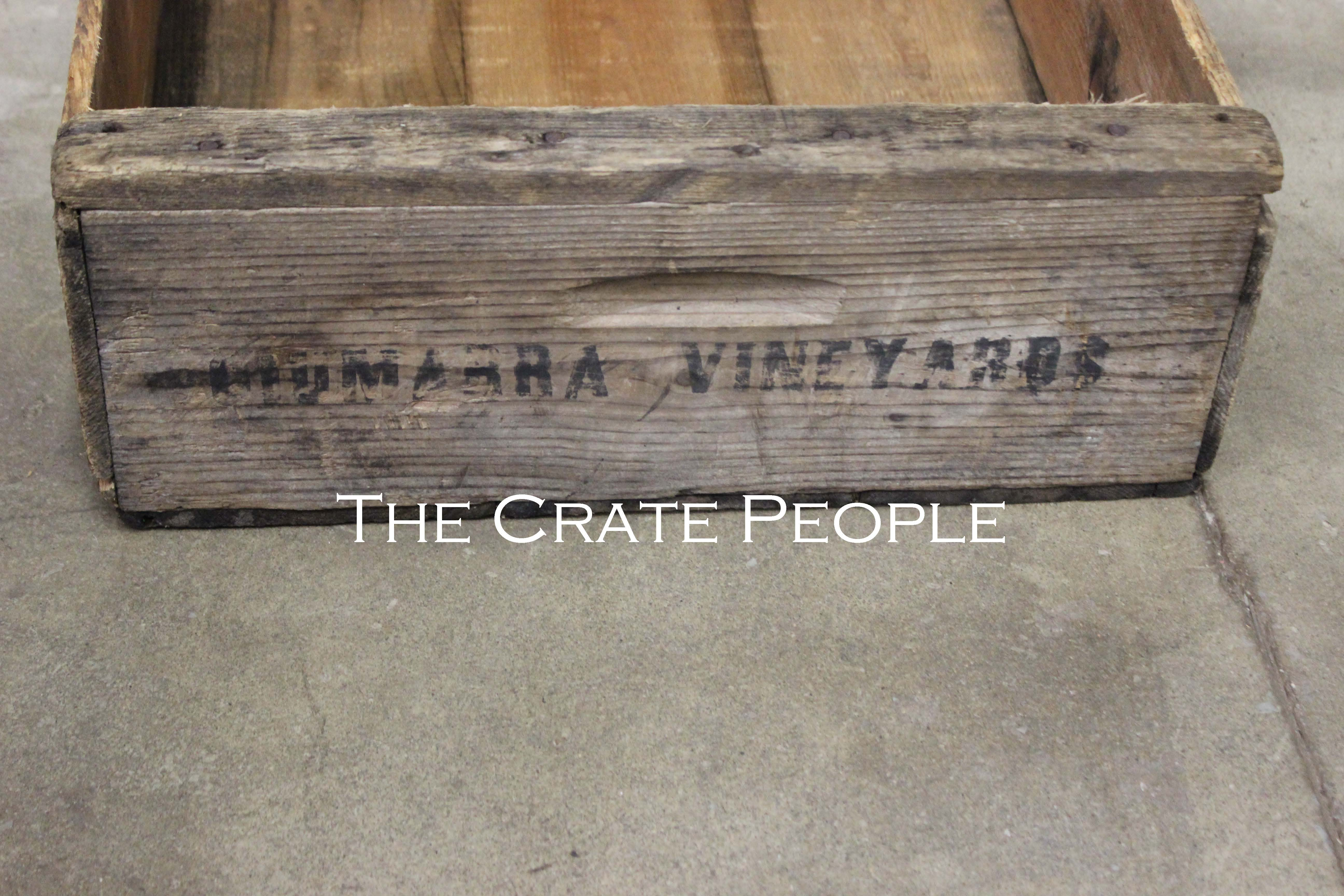 Vintage Vineyard Wood Crate