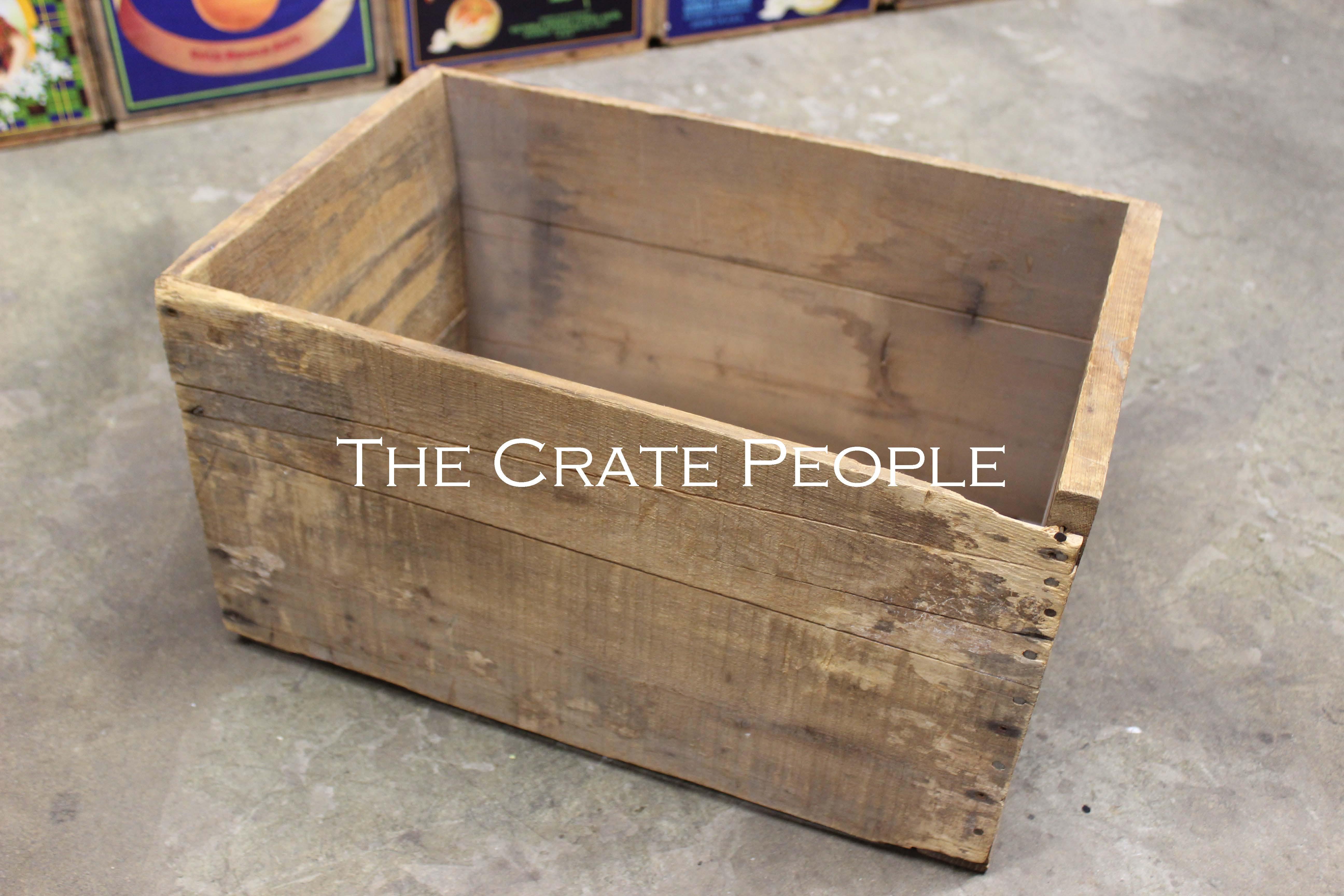 Vintage ORANGE Crate