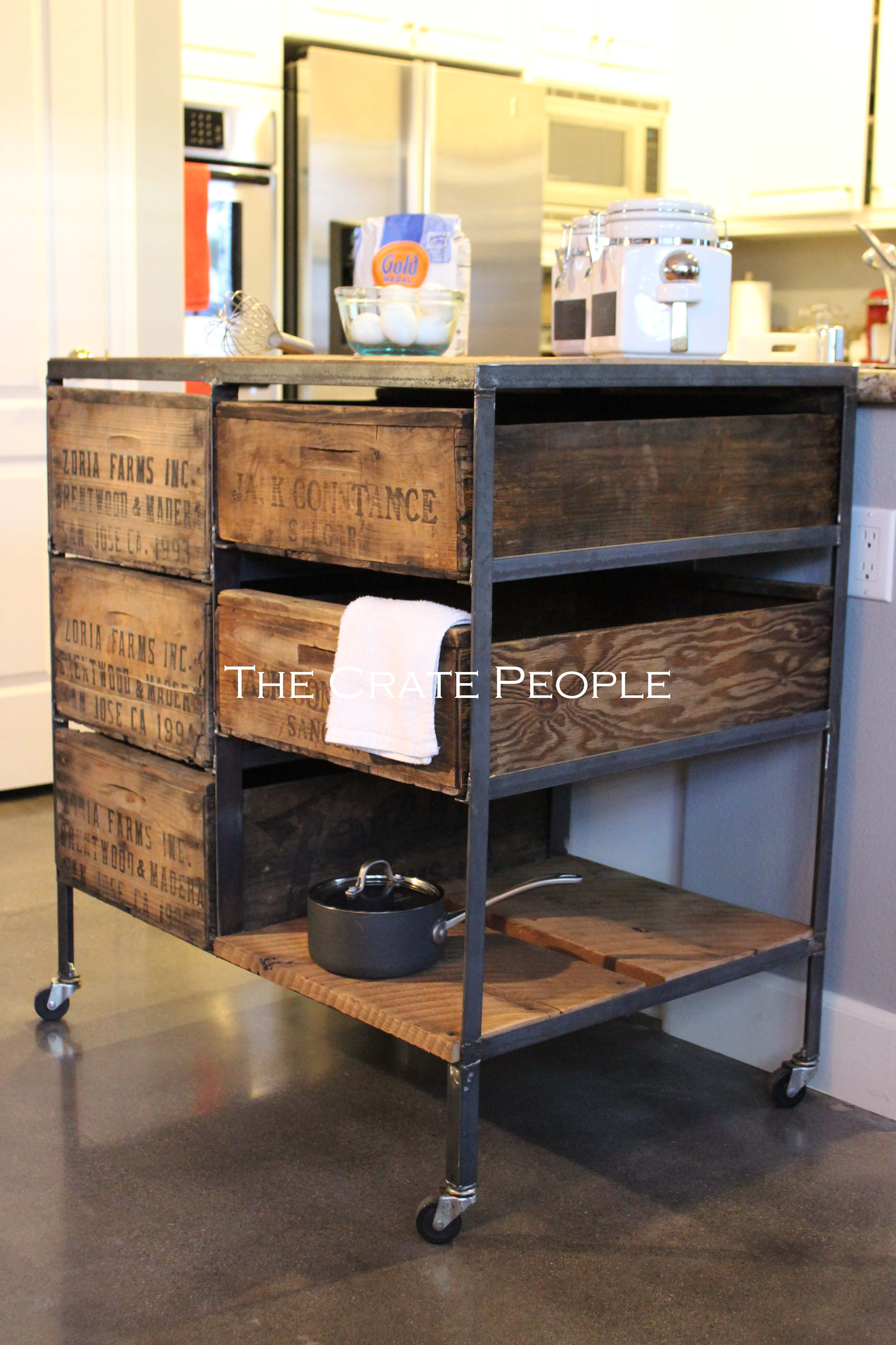 kitchen island crate combo on casters the crate people kitchen island on casters inspiration and design ideas