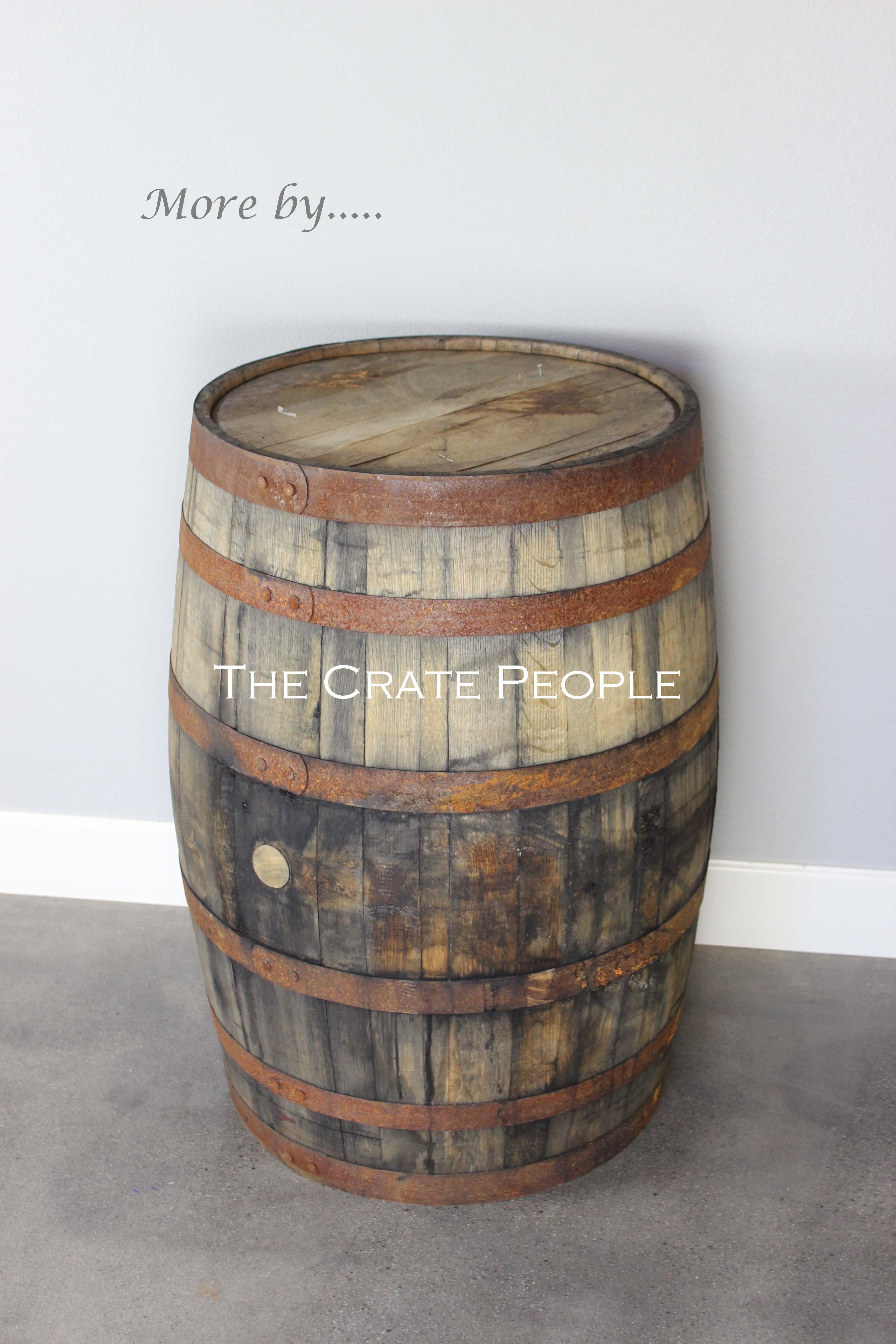 used bourbon whiskey barrels