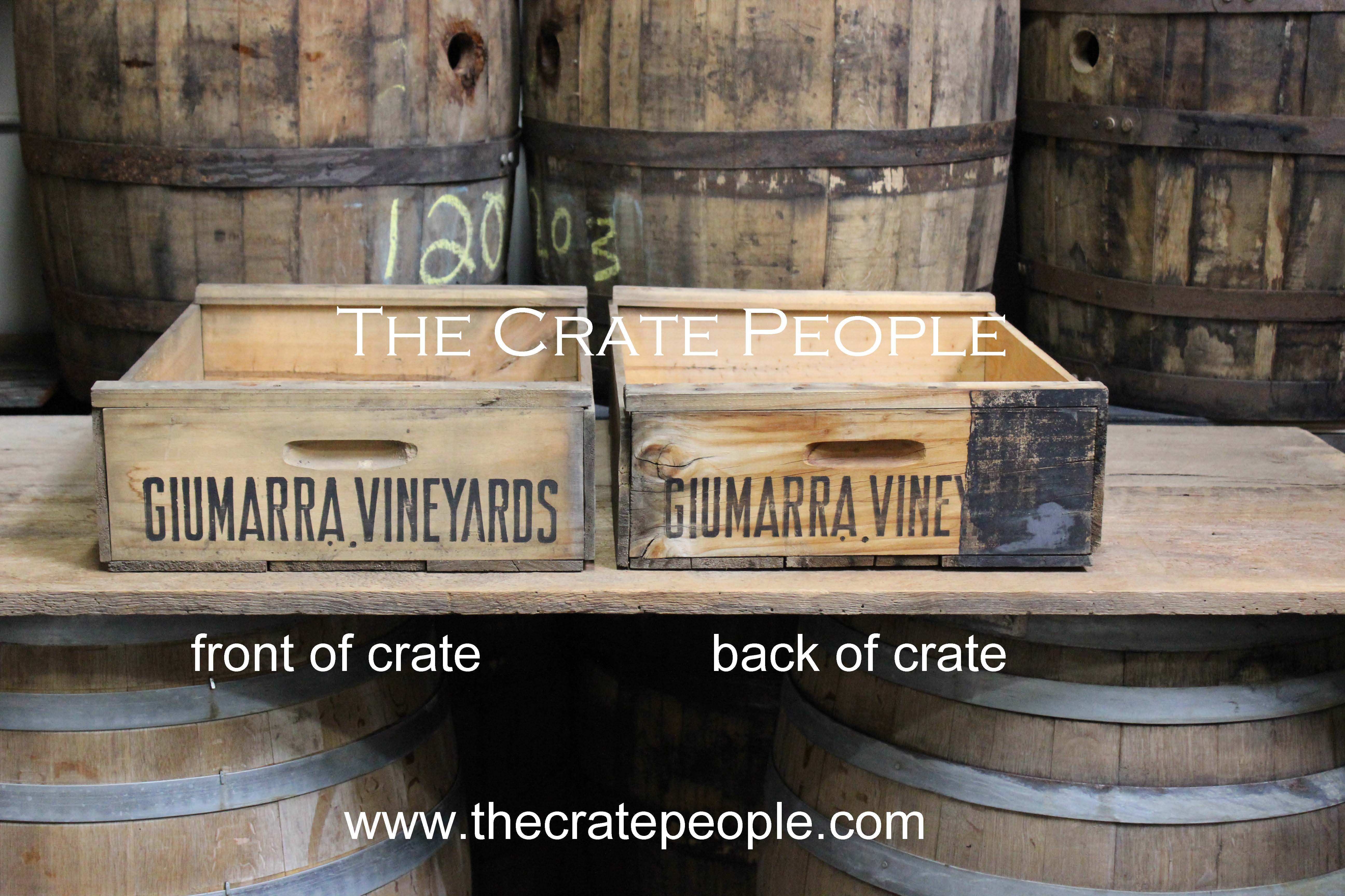 Vintage New Old Stock Vineyard Crate The Crate People
