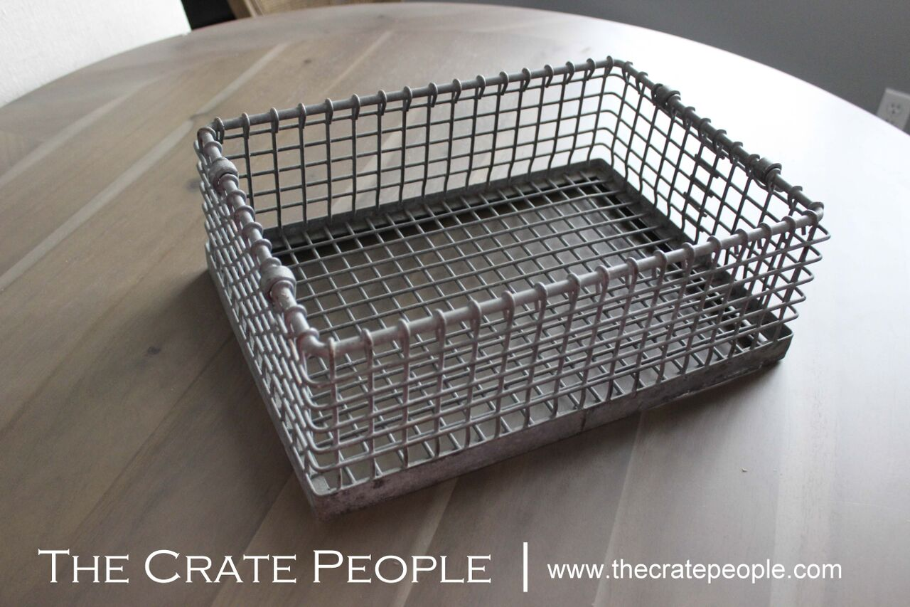 vintage german wire basket with handles the crate people. Black Bedroom Furniture Sets. Home Design Ideas